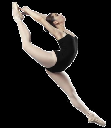 Ballet dancer dancing in black leotard